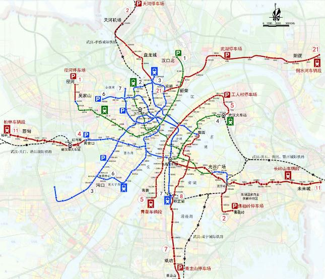武汉第三期轨交建设规划已获批总程173公里 投资1148亿